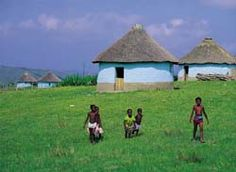 Transkei, South Africa (so special). African Fashion Traditional, African Inspired Fashion, African Image, African Art, World Photography, Landscape Photography, South Afrika, African House, Watercolor Architecture