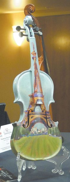 Violin art. the question is.. could i pick it up n play it Would it sound like my violin