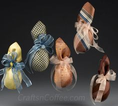Repurposing ideas for Christmas decor and Christmas ornaments made from silk ties