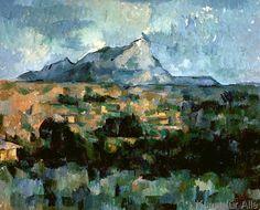 Paul Cézanne - Montagne Sainte-Victoire, 1904-06