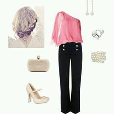 Pink black creame silver