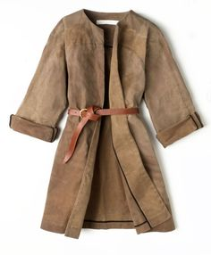 Great suede coat, belted