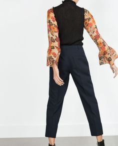 ZARA - COLLECTION AW15 - WIDE TURN-UP HEM TROUSERS