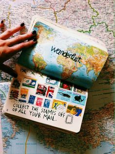 { collecting & keeping stamps from everywhere you've been  }