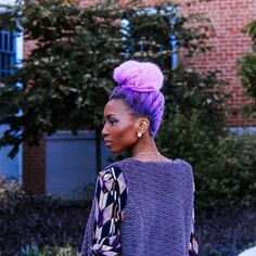 Giant collection of colorful natural hair inspiration as seen on @offbeatbride