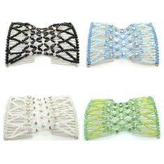 Casualfashion 4Pcs/Pack Crystal Rhinestone EZ Combs Magic Beaded Double Stretching Combs * Be sure to check out this awesome product.