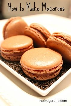 Easy How To Make Macarons via thefrugalette.com  #recipes #desserts