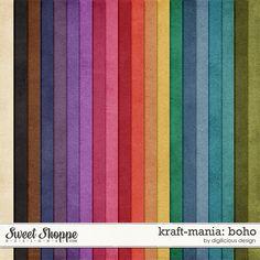 Kraft-mania: Boho by Digilicious Design