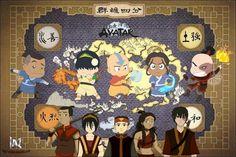 Sokka,Toph,Aang,Katara,Zuko photo iazdibujo.jpg