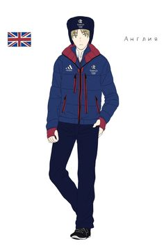 Arthur in the British athletes' uniform from the Opening Ceremonies of the 2014 Sochi Winter Olympic Games - Art by toxicell.tumblr.com