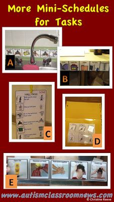 Autism Classroom News: Visual Schedule Series: Mini-Schedules for Routine Tasks Life Skills Classroom, Autism Classroom, Special Education Classroom, Teacher Education, Classroom Organization, Classroom Management, Autism Resources, Classroom Resources, Classroom Ideas