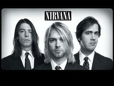A great band portrait poster of Nirvana! Kurt Cobain, Dave Grohl, and Chris Novoselic look pretty classy in black and white! Come as you are and check out the rest of our selection of Nirvana posters! Banda Nirvana, Nirvana Band, Nirvana Songs, Nirvana Tattoo, Nirvana Kurt Cobain, Beatles, Smells Like Teen Spirit, Chris Cornell, Heavy Metal