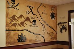 pirate map wall mural - Google Search