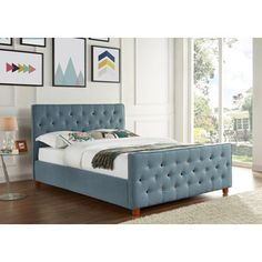 Shop for Juliette Chambray Upholstered Button Tufted Queen Bed. Get free shipping at Overstock.com - Your Online Furniture Outlet Store! Get 5% in rewards with Club O!