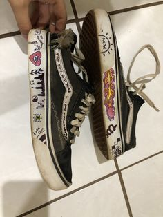 madness Insanity Insanity Floph -You can find Vans girls and more on our website. Grunge Outfits, Grunge Shoes, Aesthetic Shoes, Aesthetic Grunge, Aesthetic Clothes, Vans Customisées, Vans Shoes, Asics Shoes, Shoes Uk