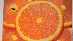 Купить Апельсиновое безумие - рыжий, картина в подарок, картина, вышивка, Вышивка крестом, Гобелен