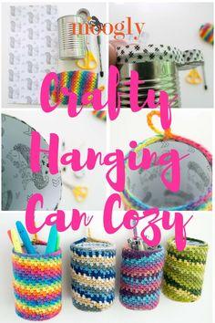 Crafty Hanging Can Cozy - free crafty crochet pattern on Mooglyblog.com!