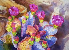 Cheryl Brajner Weinfurtner original watercolor paintings of the Desert Southwest Watercolor Succulents, Watercolor Cactus, Watercolor Drawing, Watercolor Paintings, Watercolor Ideas, Watercolors, Floral Paintings, Painting Art, Desert Art