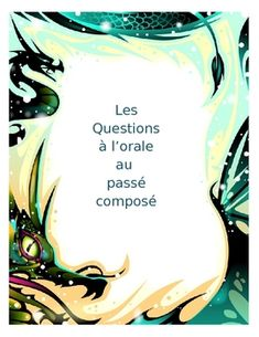 $ - Grade 8-9 core French - Three sets of questions are included: past tense with avoir, irregular past participles that use avoir, past tense with etre. There are 10-12 questions for each of the three versions, and it is a Word document so the teacher can edit as desired or mix the questions into one more challenging version.