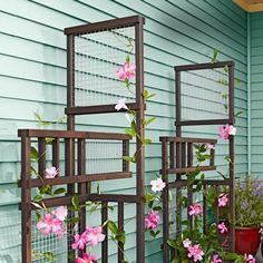 Creative way to add vertical elements in a your garden or on your terrace /// Außergewöhnliche Art um vertikale Elemente in den eigenen Garten oder auf der Terrasse zu intigrieren