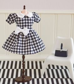 BLYTHE Dress Black and White By Sweet Petite by SweetPetiteShoppe