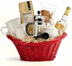Staff Picks! Our Favorite Gift Baskets | Cost Plus World Market. They have great idea. I love the Italian dinner inspired one.