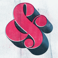 // Ampersand – Retro print imitation