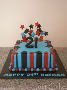 Nathan's 21st cake by Just Cake by Em, via Flickr
