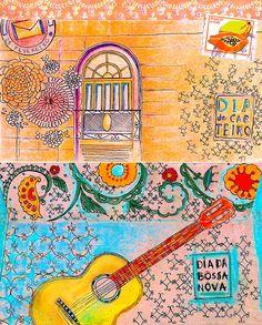 Ilustração Bossa Nova da Biscoito Maria/ Bossa Nova illustration by Biscoito Maria