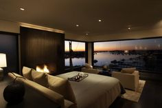 Luxury House in Corona Del Mar California Romantic Bedroom Design Modern Master Bedroom, Master Bedroom Design, Cozy Bedroom, Master Bedrooms, Bedroom Ideas, Bed Ideas, Bedroom Designs, Bedroom Decor, Light Bedroom