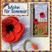 """""""Vier Jahreszeiten"""" - Mohn für Sommer - via @Craftsy"""