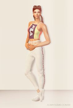 Always Sims: Fila Top and bottom - AF