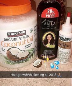 I need to find that amla oil ! I made a growth oil a few minutes ago & im trying it out tomorrow & gonna be using it daily since I have braids.we'll see how this goes 🙃🙃🙃🙃 (no coconut oil was used) Curly Hair Tips, Curly Hair Care, Black Hair Tips, Natural Hair Growth Tips, Natural Hair Styles, Natural Care For Hair, Natural Hair Growing, Amla Oil, Amla Hair Oil