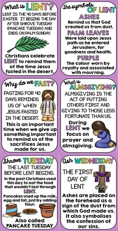 Lent Posters - Classroom Display by Pink Tulip Teaching Creations Catholic Lent, Catholic Religious Education, Catholic Religion, Catholic Prayers, Teaching Religion, Catholic Saints, Sunday School Kids, Sunday School Lessons, Bible Lessons For Kids