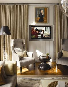 TV in the wall Thom Filicia