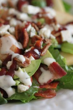 Made tonight and brian thought it was amazing..I added glazed pecans. BBQ Chicken Salad with Bacon and Apples