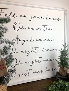 """""""Fall on your knees"""" / Farmhouse Style / Rustic / Home Decor / Hand painted / Wood sign / Christmas / Holiday - Happy Christmas - Noel 2020 ideas-Happy New Year-Christmas Christmas Signs Wood, Rustic Christmas, Winter Christmas, Christmas Home, Christmas Wreaths, Christmas Ideas, Modern Christmas Decor, Christmas Bedroom, Christmas Cookies"""