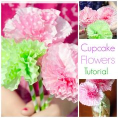 collage for cupcake flowers