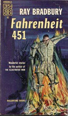 Ray Bradbury, Fahrenheit 451,1953 cover by Joseph Mugnaini
