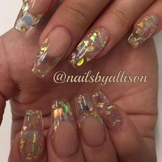 "1,166 Likes, 18 Comments - Young Nails Inc (@youngnailsinc) on Instagram: ""Mylar nails are all the rage right now and these nails by YN mentor @nailsbyallison are the perfect…"""