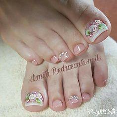 Pretty Toe Nails, Cute Toe Nails, Love Nails, Diy Nails, How To Do Nails, Toe Nail Color, Toe Nail Art, Pretty Nail Designs, Toe Nail Designs