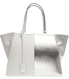 Fendi , perfect silver and white icy cool summer bag