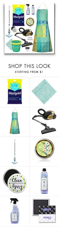 """""""Spring:  Time to get your Marigold on!"""" by molly2222 ❤ liked on Polyvore featuring interior, interiors, interior design, home, home decor, interior decorating, Hoover, Capri Essentials, marigold and springclean"""