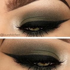 Sizzle at that next formal flaunting these bewitching taupe and deep olive green smokey eyes defined by seductive winged liners. Check out the how-tos and essentials needed to recreate this look here.