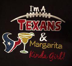 Houston Texans and drink Kinda Girl Glitter Ladies by SettinTrendz
