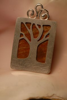 Tree Pendent with Jasper and Sterling Silver by Foresthollow, $72.00