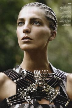 """Daria Werbowy in """"THE WARRIOR WAY"""" Photographed By David Sims & Styled By Grace Coddington For VOGUE US March 2010"""