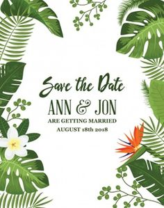 Trendy Wedding Card Background Save The Date Design Tropical, Rustic Color Palettes, Wedding Cards, Wedding Invitations, Videos Instagram, Nature Vector, Blush Wedding Flowers, Hand Drawn Flowers, Cool Wedding Cakes