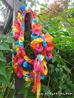 Free Crochet Pattern ~Braided Sashay Scarf - No Sew