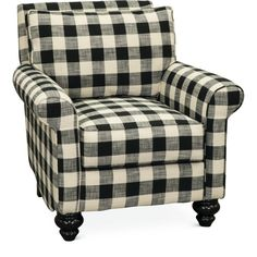 Add a trendy update to your home with this black and white accent chair from RC Willey. Buffalo plaid, roll-shaped arms, and curved bun legs finish out this stylish chair that will surely steal the spotlight in your room. Plaid Living Room, Plaid Bedroom, Living Room Chairs, Living Room Decor, Living Rooms, Buffalo Check Chair, Plaid Chair, Black And White Furniture, White Accent Chair